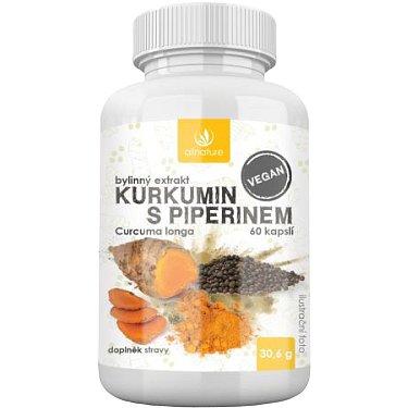 Allnature Kurkumin s piperinem bylinný extrakt 60kapslí
