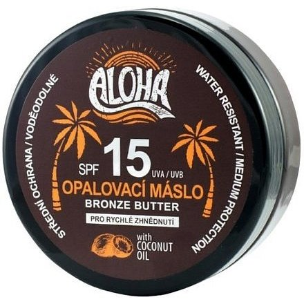 ALOHA Tělové opalovací máslo OF15 coconut oil 200ml