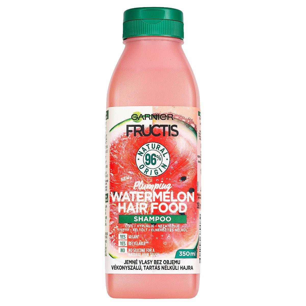 Garnier Fructis Hair Food Watermelon šampon pro jemné vlasy bez objemu 350 ml