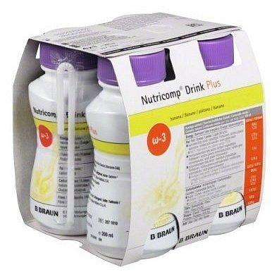 Nutricomp Drink Plus Banán roztok 4x200ml