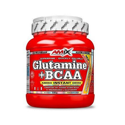 AMIX GLUTAMINE + BCAA POWDER 530g lesní ovoce