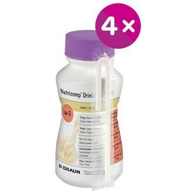 Nutricomp Drink Plus Fibre Káva roztok 4x200ml
