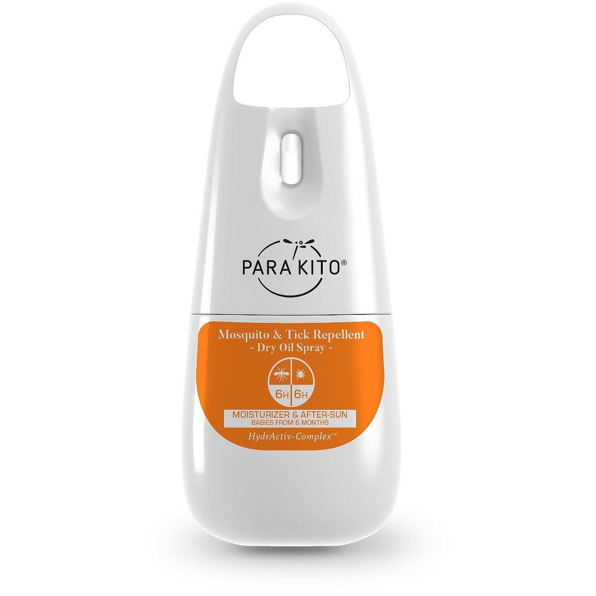 PARAKITO Sprej voděodolný suchý olej proti komárům a klíšťatům 75 ml