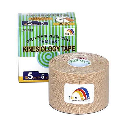 Tejp. TEMTEX kinesio tape béžová 5cmx5m
