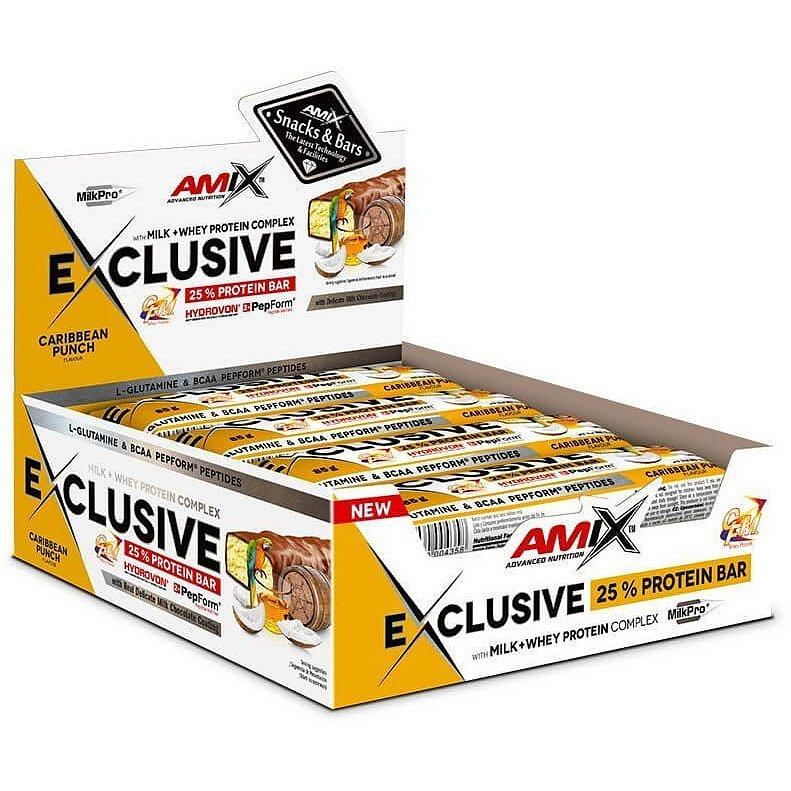 AMIX Exclusive Protein Bar, Karibský punč, 12x85g