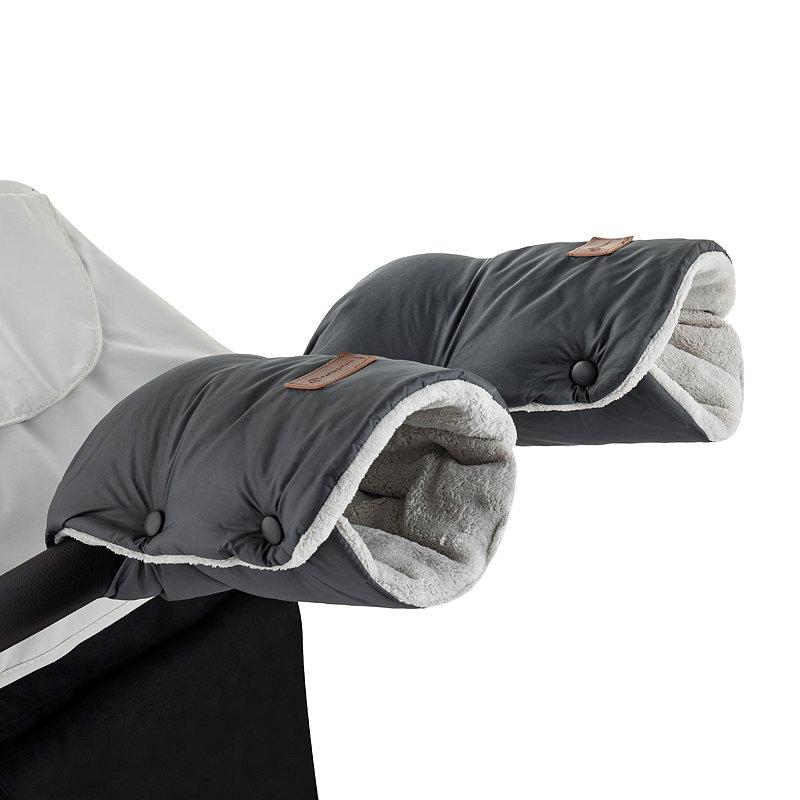 PETITE&MARS Rukávník / rukavice Jasie na kočárek Charcoal Grey