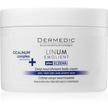 Dermedic Linum Emolient výživný tělový krém pro suchou až atopickou pokožku 225 g