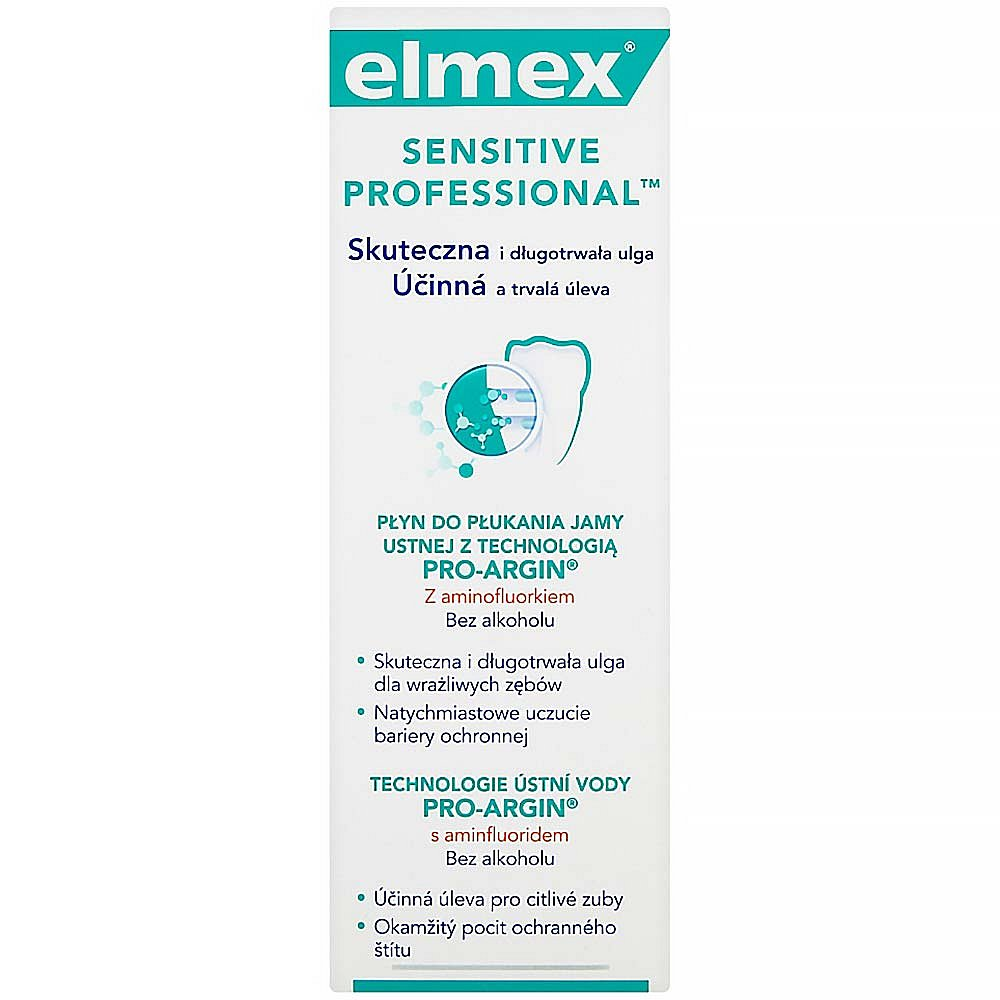 ELMEX Sensitive Professional Technologie ústní vody pro-agrin s aminfluoridem 400 ml