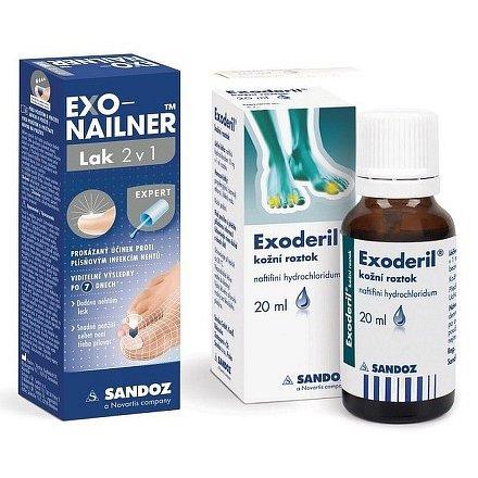 Exonailner Lak 2v1 5ml + Exoderil 20ml/200mg