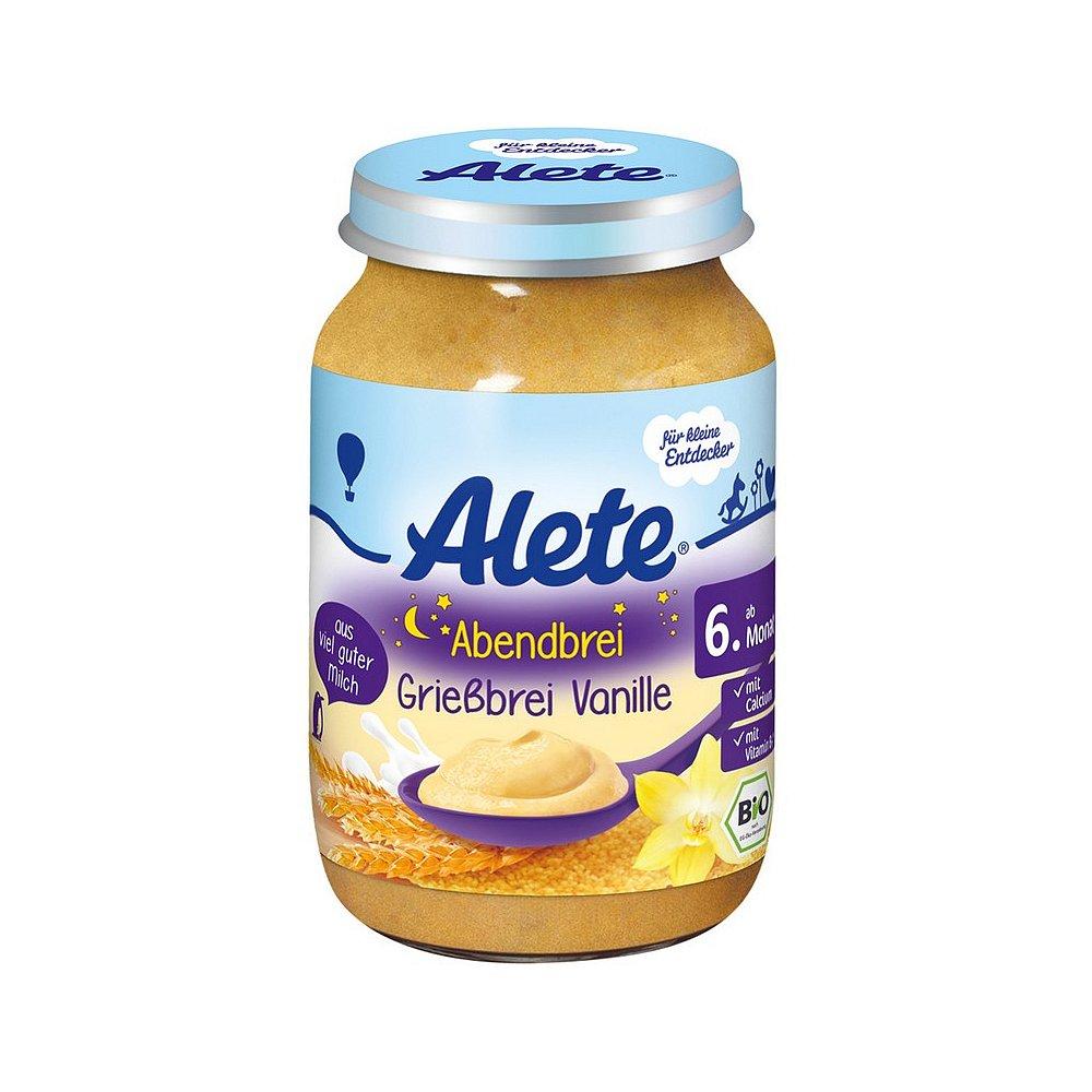 ALETE Bio Kaše večerní semolinová s vanilkovou příchutí 190 g