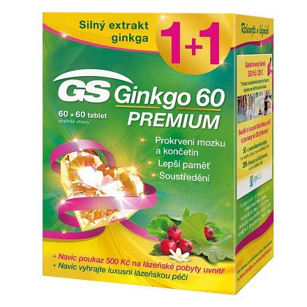 GS Ginkgo 60 Premium tbl.60+60 + dárek