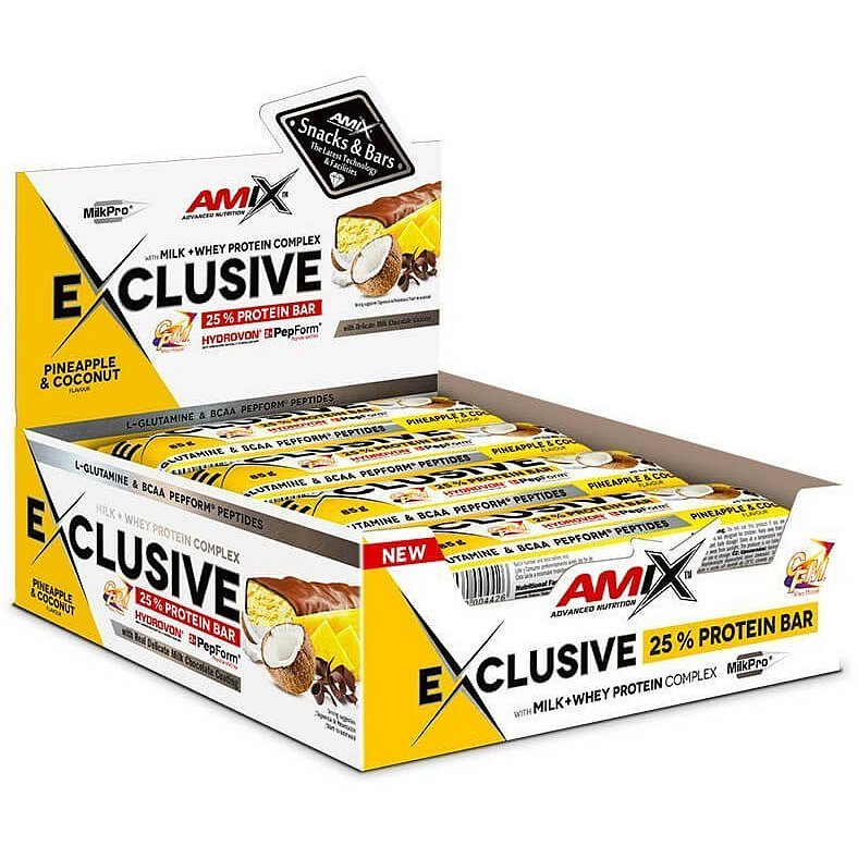 AMIX Exclusive Protein Bar, Ananas-kokos, 12x85g
