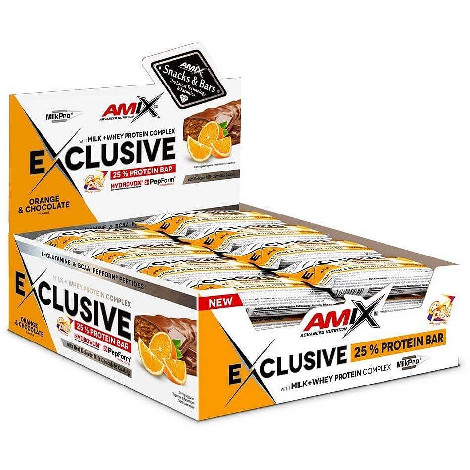 AMIX Exclusive Protein Bar, Pomeranč-čokoláda, 24x40g