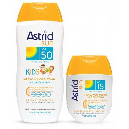 ASTRID SUN dětské opal.mléko OF50 200ml+OF15 80ml