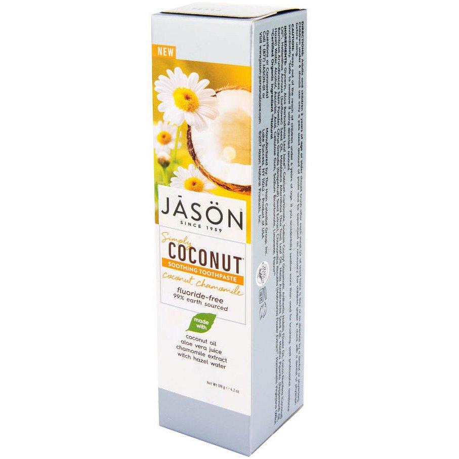 Jason Zubní pasta simply coconut zklidňující s heřmánkem 119g