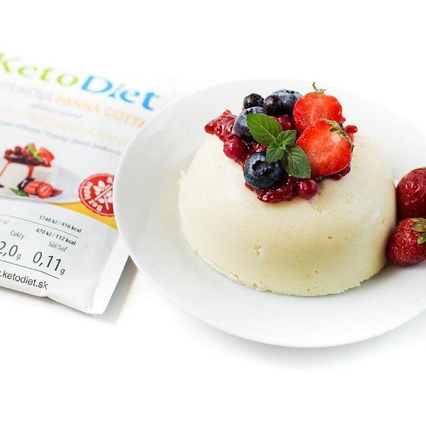 KetoDiet Proteinová panna cotta s příchutí smetany a vanilky 7porcí