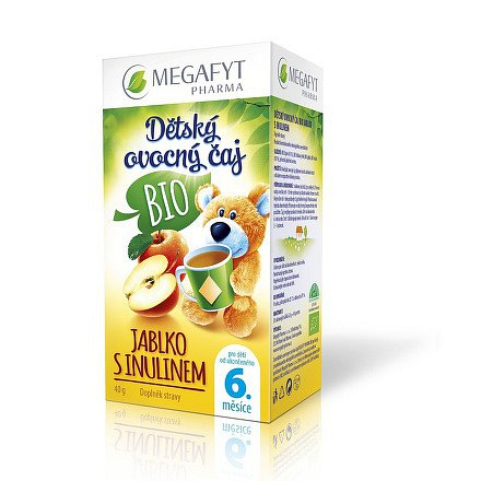 Megafyt Dětský ovocný čaj BIO jablko s inulinem 20x2g