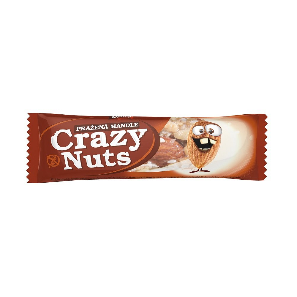 DRUID Crazy Nuts Pražené mandle v mléčné čokoládě 30 g