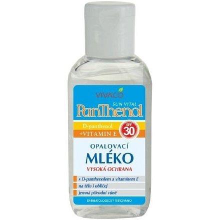Panthenol ochranné opalovací mléko OF 30 – cestovní balení 50ml