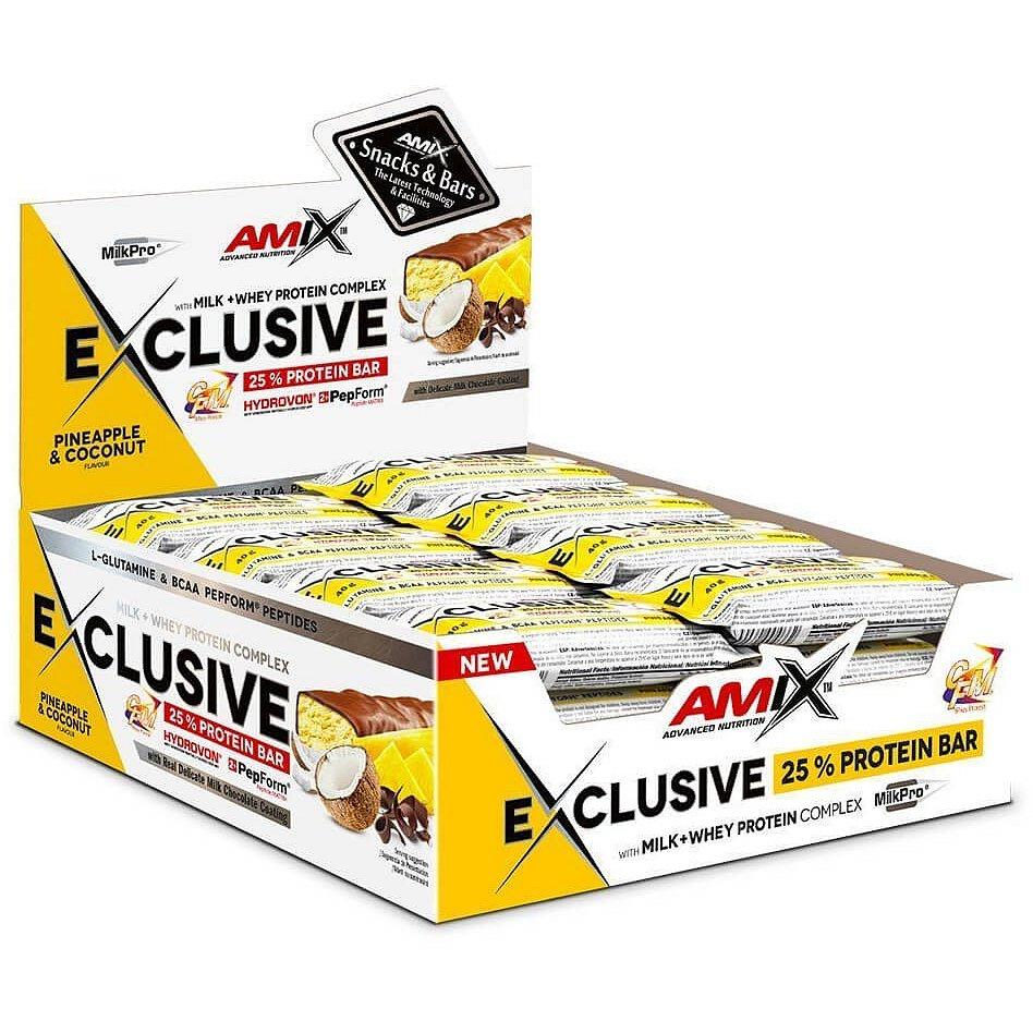 AMIX Exclusive Protein Bar, Ananas-kokos, 24x40g