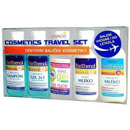 SET šampon+gel+mléko+opalovací mléko OF30+čistící gel - cestovní balení 5x50ml