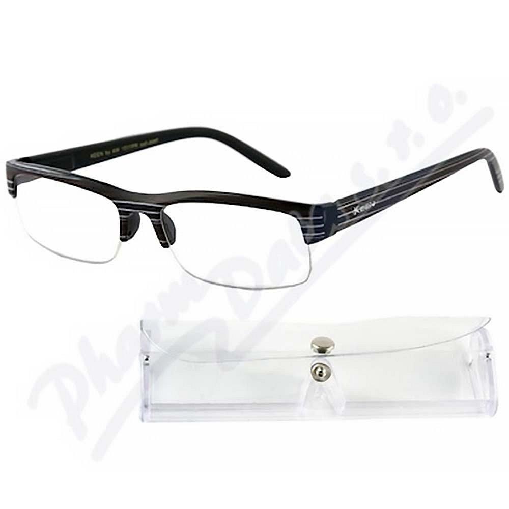 AMERICAN WAY brýle čtecí +1.50 černé s pruhy a pouzdrem