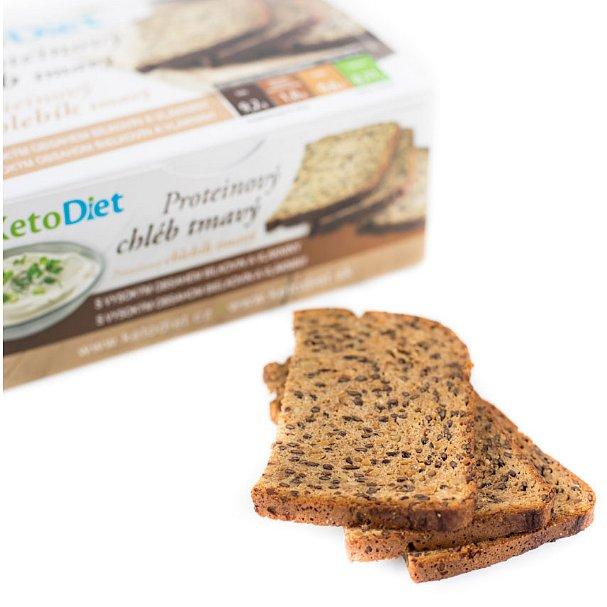 KetoDiet Proteinový chléb tmavý 7porcí