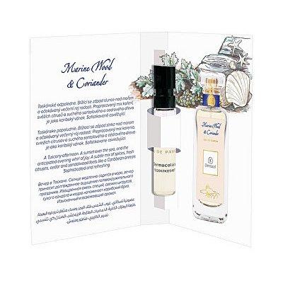 Dermacol parfémovaná voda Marine Wood & Coriander tester  2 ml