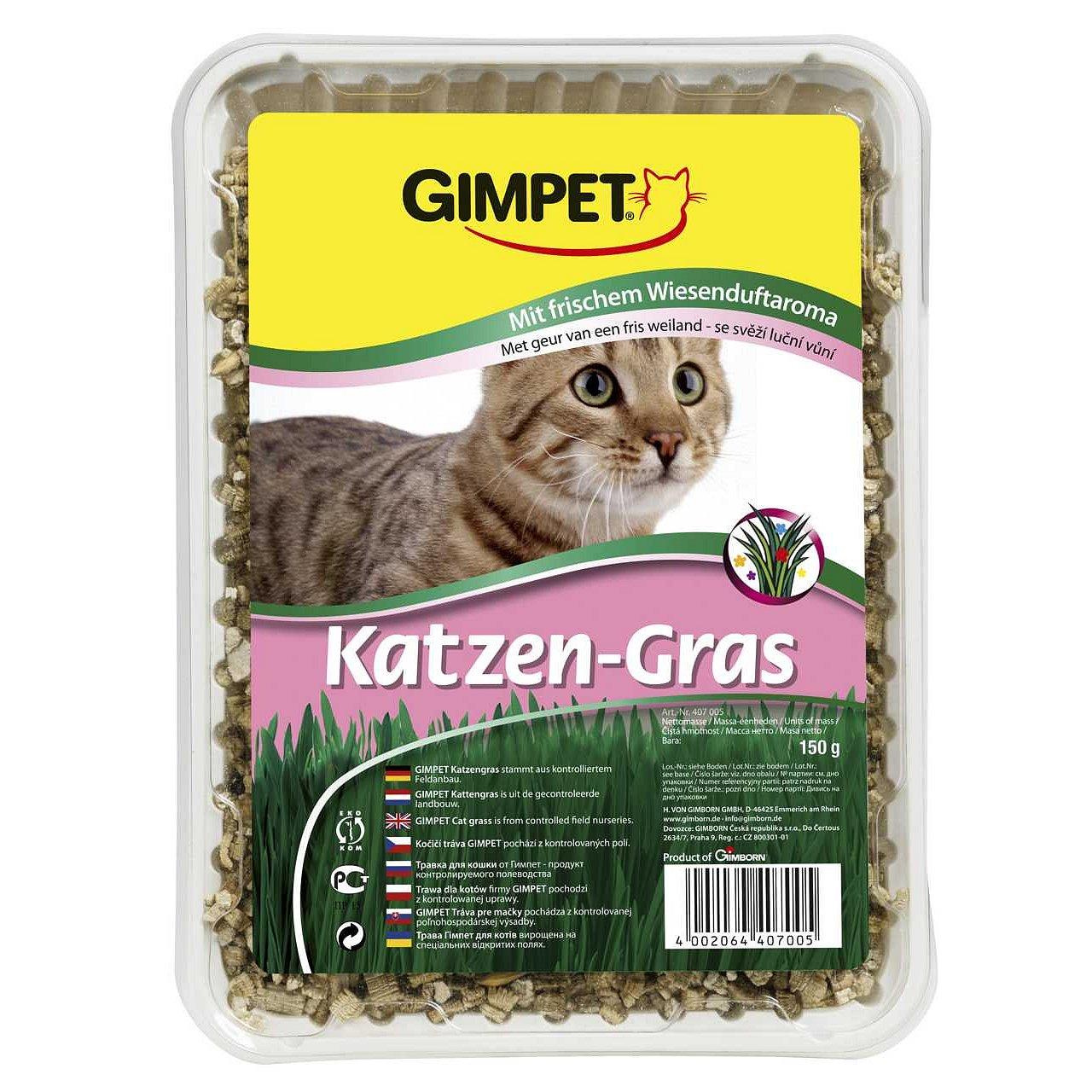 Gimpet Katzen-Gras kočičí tráva s luční vůní 150g