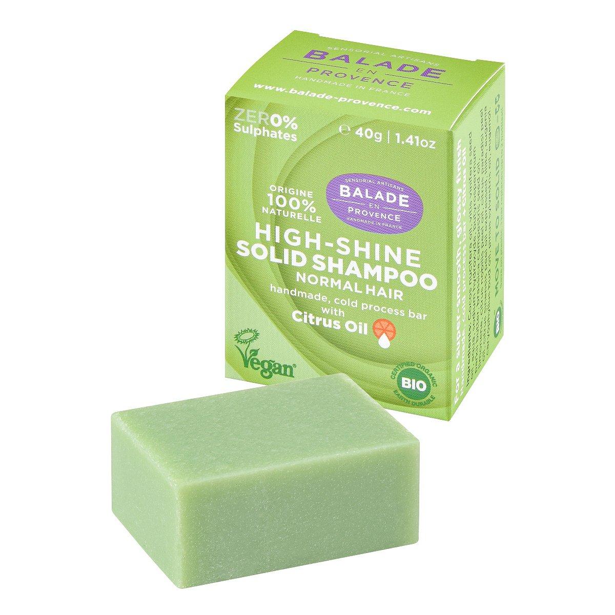 Balade en Provence Pečující tuhý šampon pro vysoký lesk BIO Citrus 40 g