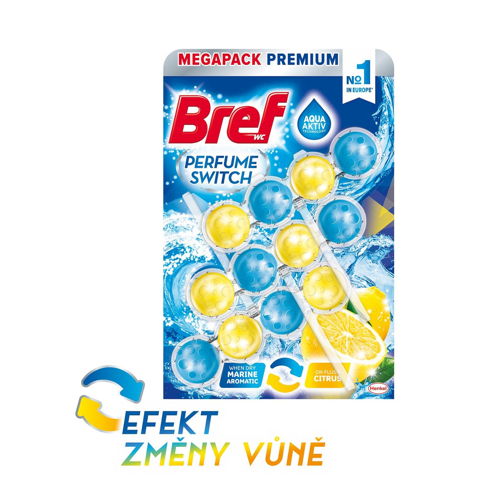 Bref Perfume switch Marine-Citrus WC závěs 3 x 50 g