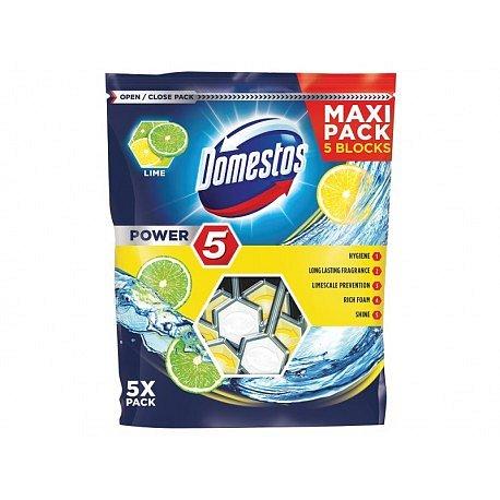 DOMESTOS Power 5 Lime tuhý WC blok 5x55 g