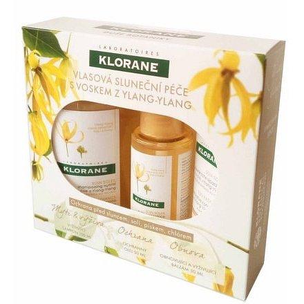 KLORANE Ylang-Ylang Sluneční vlasová péče cestovní sada 3ks