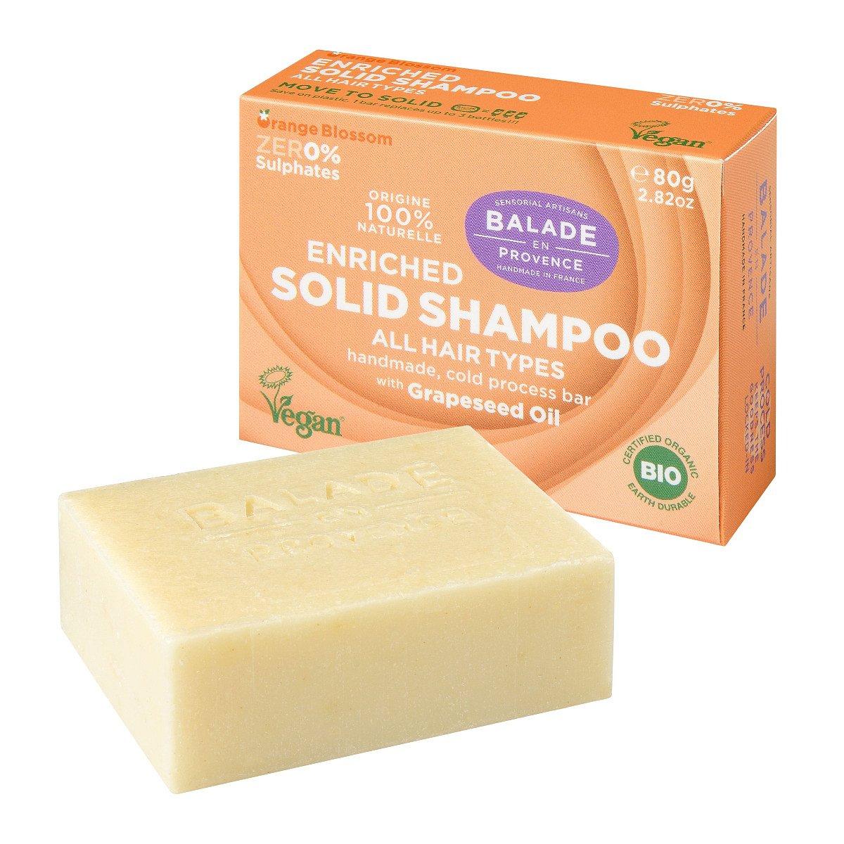 Balade en Provence Vyživující tuhý šampon pro normální vlasy BIO Pomerančový květ 80 g
