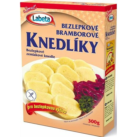 Bezlepkové bramborové knedlíky 300g Labeta