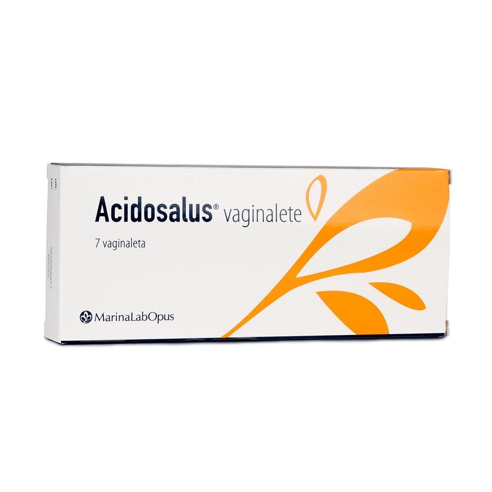 ACIDOSALUS Vaginální čípky 7 kusů