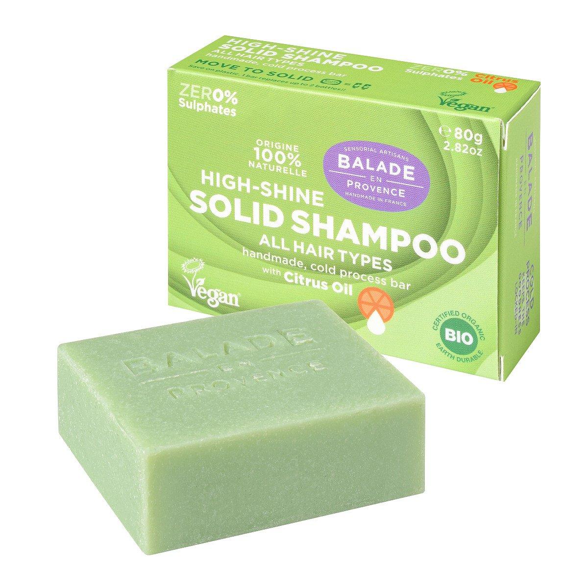 Balade en Provence Pečující tuhý šampon pro vysoký lesk BIO Citrus 80 g