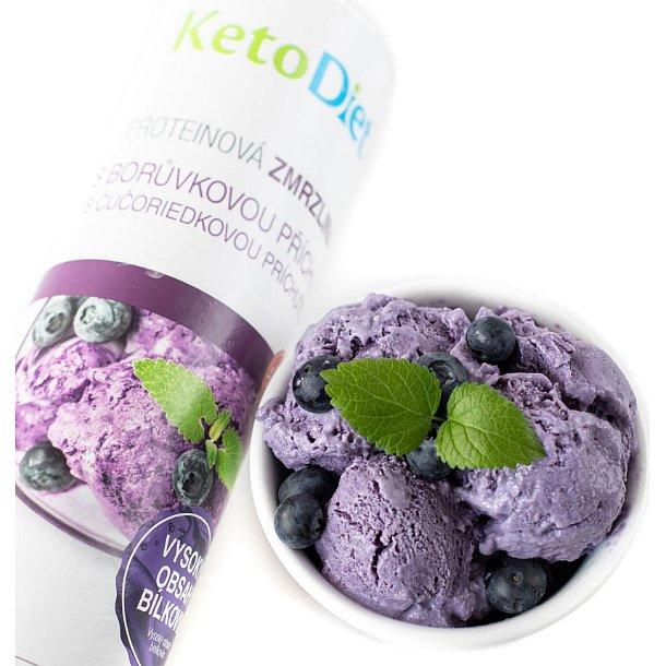 KetoDiet Proteinová zmrzlina s borůvkovou příchutí 20porcí