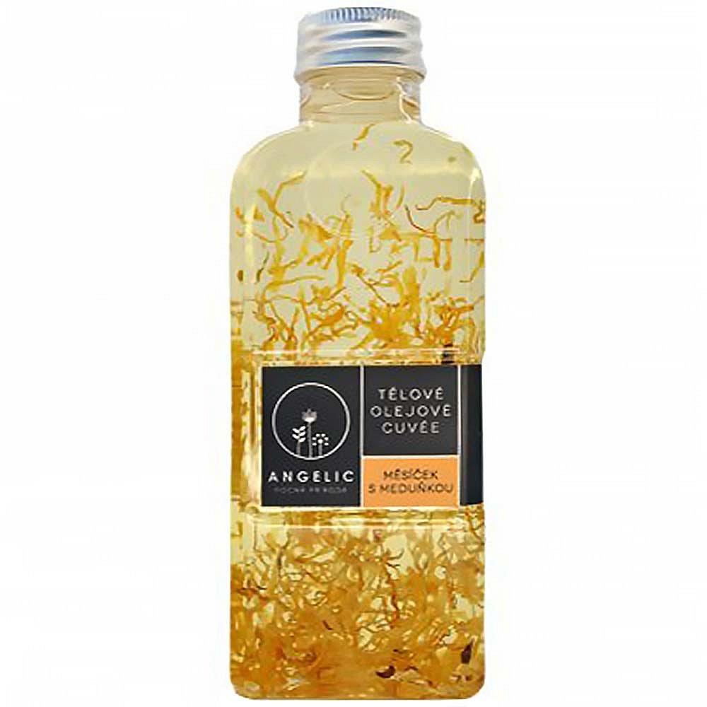 ANGELIC Tělové olejové Cuveé Měsíček s meduňkou 200 ml