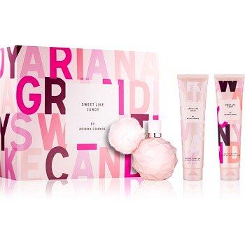 Ariana Grande Sweet Like Candy dárková sada III.  parfémovaná voda 100 ml + tělový krém 100 ml + sprchový a koupelový gel 100 ml