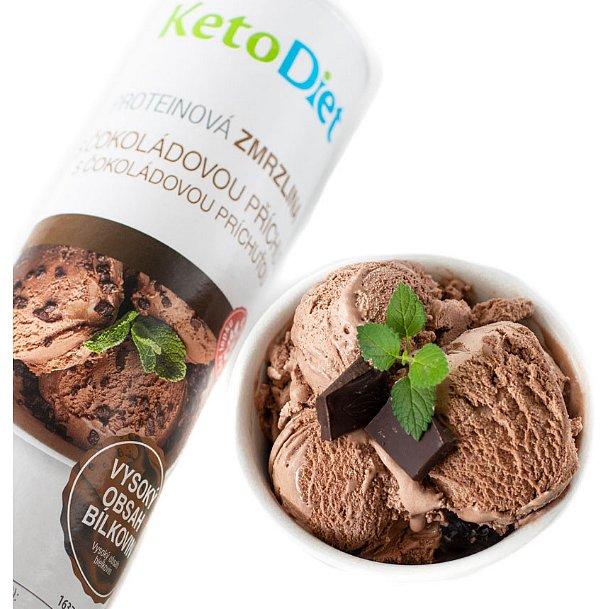 KetoDiet Proteinová zmrzlina s čokoládovou příchutí 20porcí
