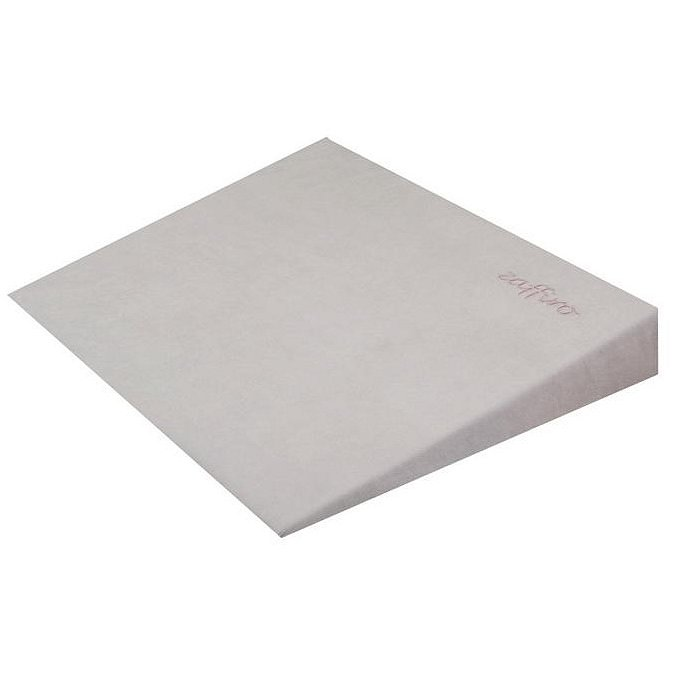 Kojenecký semiškový polštář - klín s větracími otvory šedý