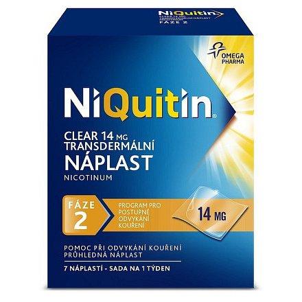 NiQuitin Clear 14 mg transdermální náplast 7 ks