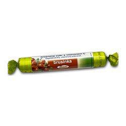 Intact rolička hroznový cukr s vitamín C Brusinka 40 g