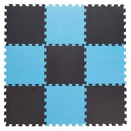 Baby Dan hrací podložka puzzle Grey/ Blue 90x90 cm