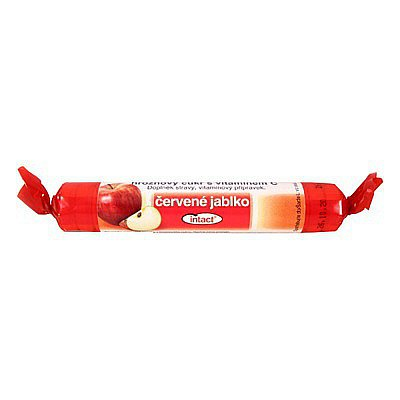Intact rolička hroznový cukr s vitamín C Červ.jabl. 40 g