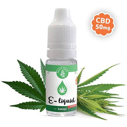 Zelená Země CBD e-liquid příchuť Konopí OG KUSH 10ml