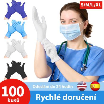 Zdravotní ochranné latexové rukavice 100ks