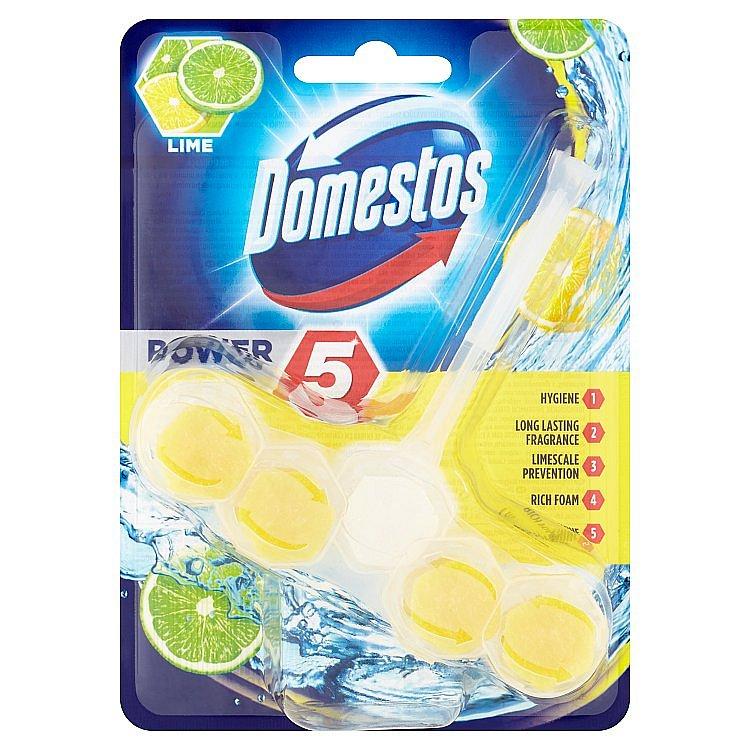 Domestos Power 5 Lime tuhý WC blok 55 g
