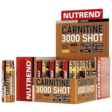 NUTREND CARNITINE 3000 SHOT pomeranč 20x60ml